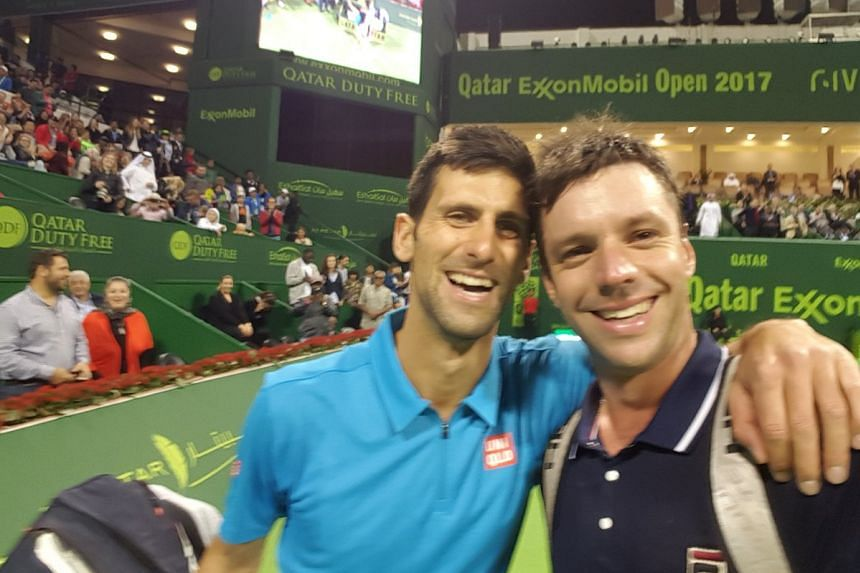 Horacio Zellabos posted his selfie with opponent Novak Djokovic to his Twitter account.