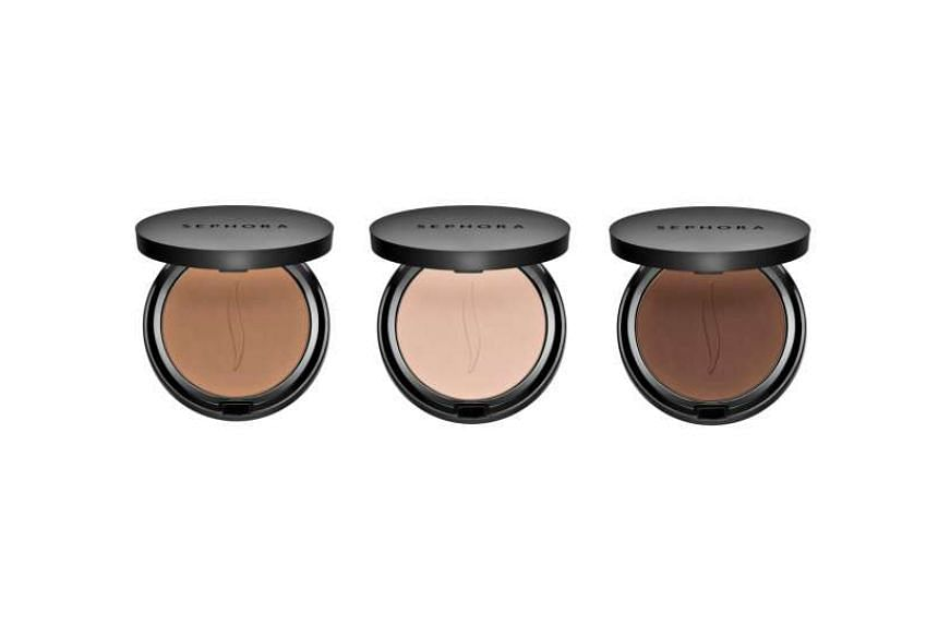 Sephora Collection Matte Perfection Powder Foundation's selection of saturated browns and terracotta shades.