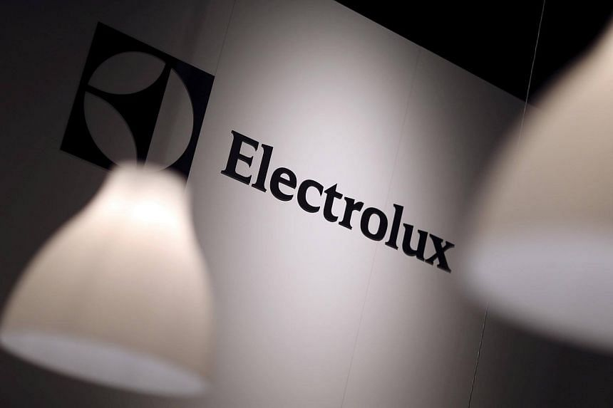 The Electrolux logo is seen during the IFA Electronics show in Berlin, Germany.