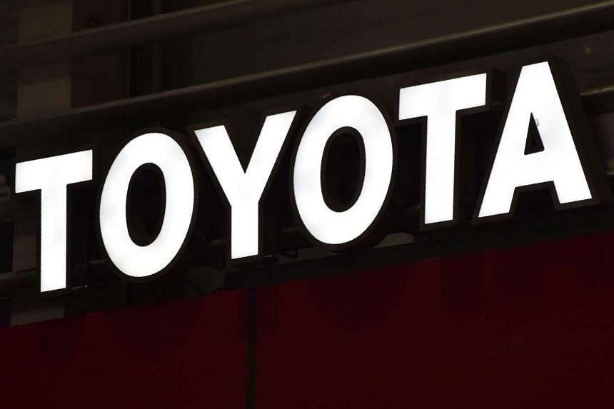 A view of the logo of Japan's Toyota Motor is seen in a showroom in Tokyo on Jan 6, 2017.