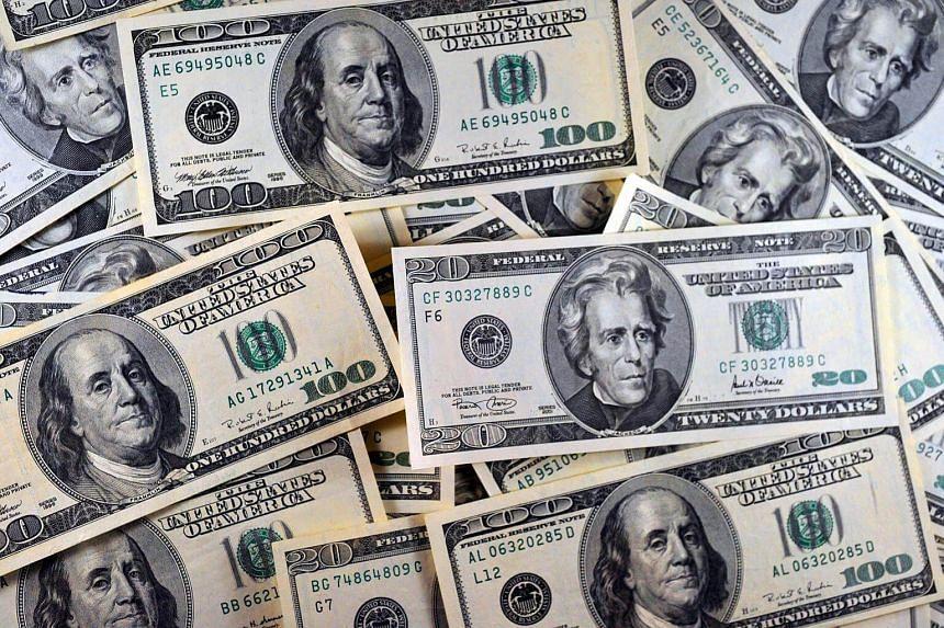 US currency viewed in Manassas, Virgina.