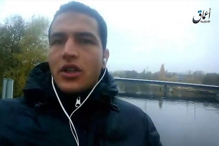 File photo of Anis Amri pledging allegiance to the Islamic State in Iraq and Syria (ISIS). Amri was shot dead in Italy four days after the Berlin market attack.
