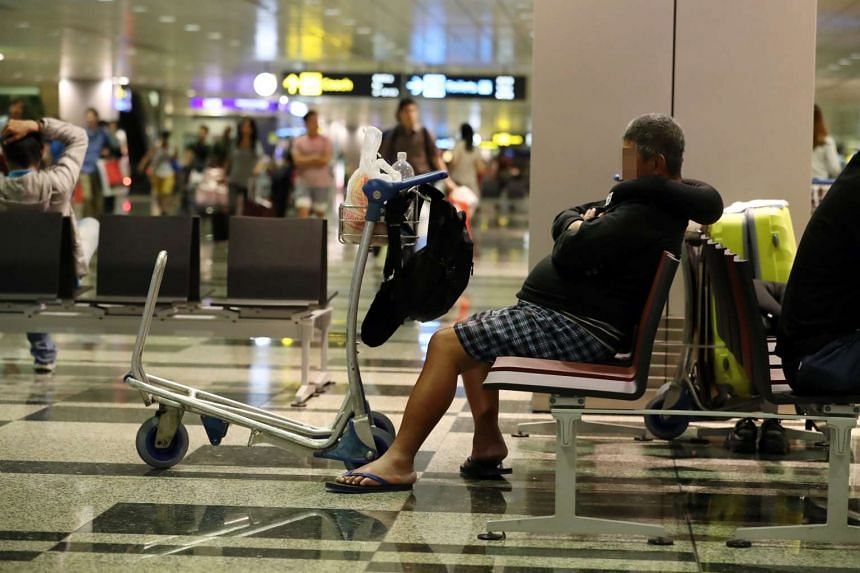 """She is one of more than 10 """"regulars"""" at the Changi Airport, Lianhe Wanbao reported."""