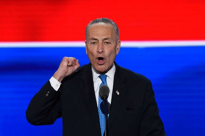 US Senator Chuck Schumer speaking during at the Democratic National Convention in Philadelphia, Pennsylvania on July 26, 2016.