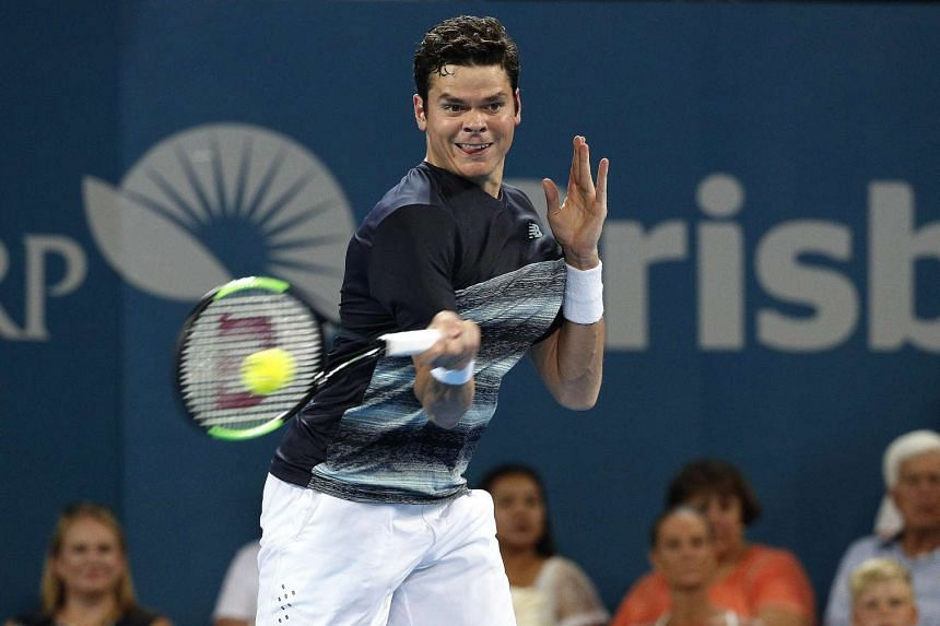 Defending Brisbane International champion Milos Raonic moved into the semi-finals with a 4-6, 6-3, 6-4 victory over Spaniard Rafael Nadal on Jan 6, 2017.