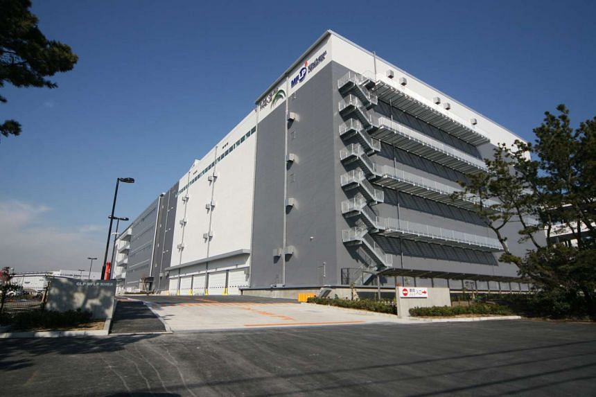 File photo of the Global Logistics Properties (GLP) building. GLP shares jumped more than 9 per cent, rising from $2.24 to as high as $2.45 before the company requested a trading halt at around 3pm.