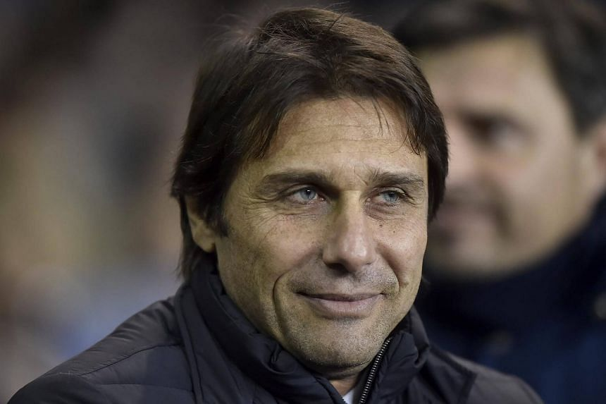 Chelsea's Antonio Conte ahead of the English Premier League soccer match between Tottenham Hotspur and Chelsea at the the White Hart Lane Stadium in London, Britain on Jan 4, 2017.