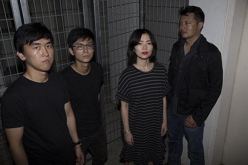 Astreal comprise (from left) Jason Ang, Joseph Chian, Ginette Chittick and Muhammad Alkhatib.
