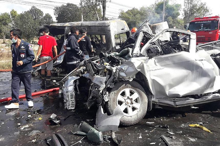 In the deadliest New Year accident, this collision on Monday left 25 people dead.