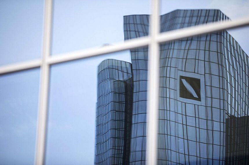 Deutsche Bank headquarters in Frankfurt. The German bank, which is US President-elect Donald Trump's biggest lender, is one of several institutions seeking to wrap up legal issues before he takes office later this month.