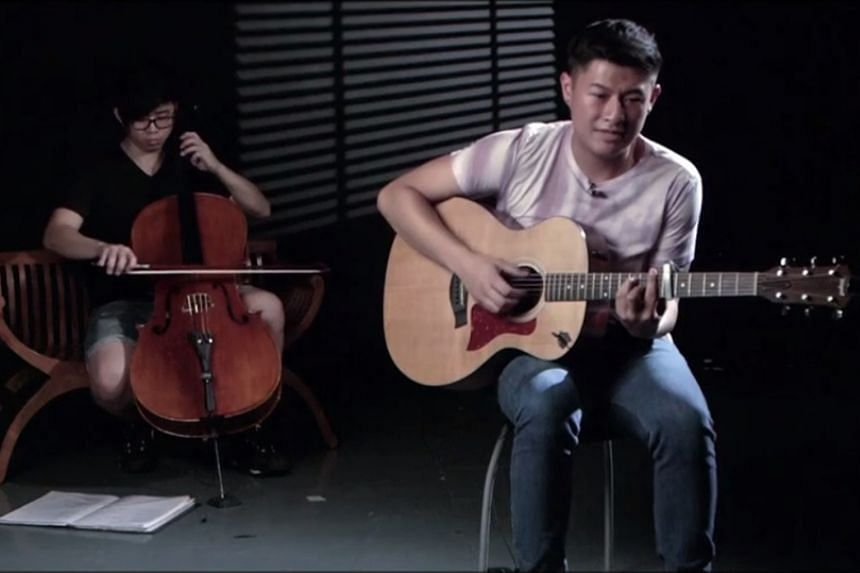 Singer-songwriter Lew (right) sings about love and mistakes.