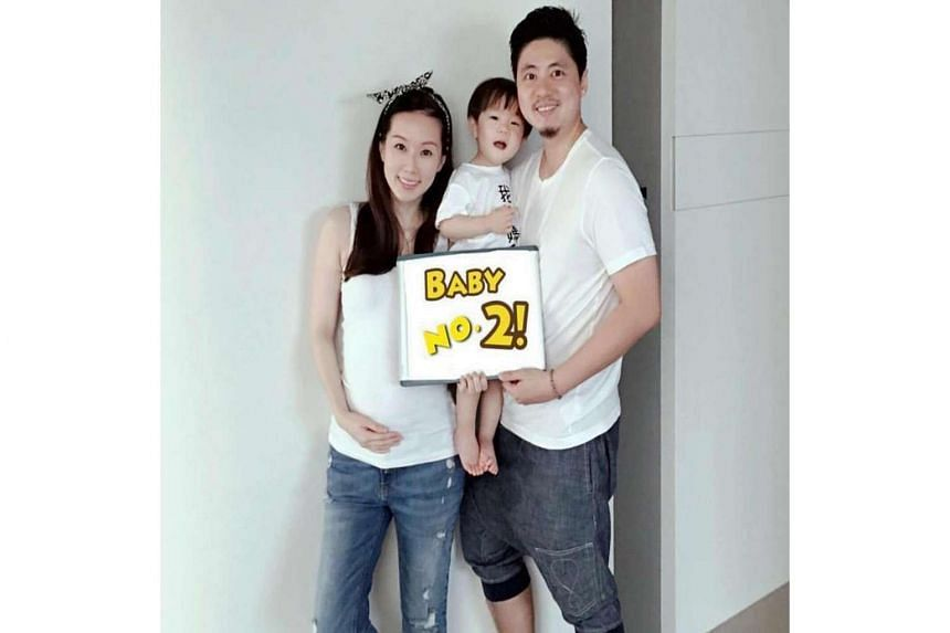 Actress Yvonne Lim with  her husband Alex Tien and their son Alex Junior, who is now two years old.