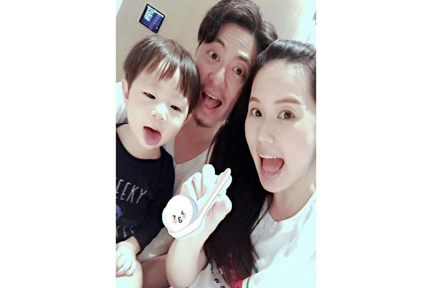 Local actress Yvonne Lim with  her husband Alex Tien and their son Alex Junior, who is now two years old.