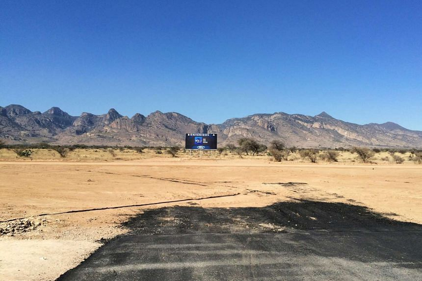 A view of the construction site where Ford Motor cancelled a US$1.6-billion plant in Villa de Reyes, on the outskirts of San Luis Potosi, Mexico, on Jan 4, 2017.