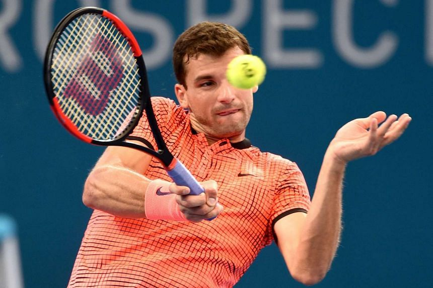 Bulgaria's Grigor Dimitrov moved into the Brisbane International final with an upset 7-6 (9-7), 6-2 win over Canadian world No. 3 Milos Raonic at Jan 7, 2016.