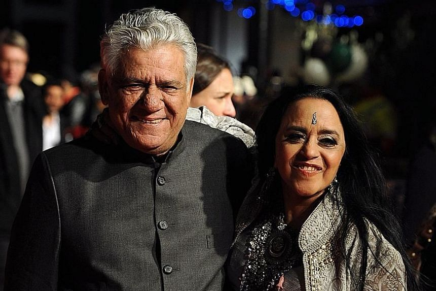 Actor Om Puri (with Indian actress Ila Arun) at the premiere of West Is West in 2010.