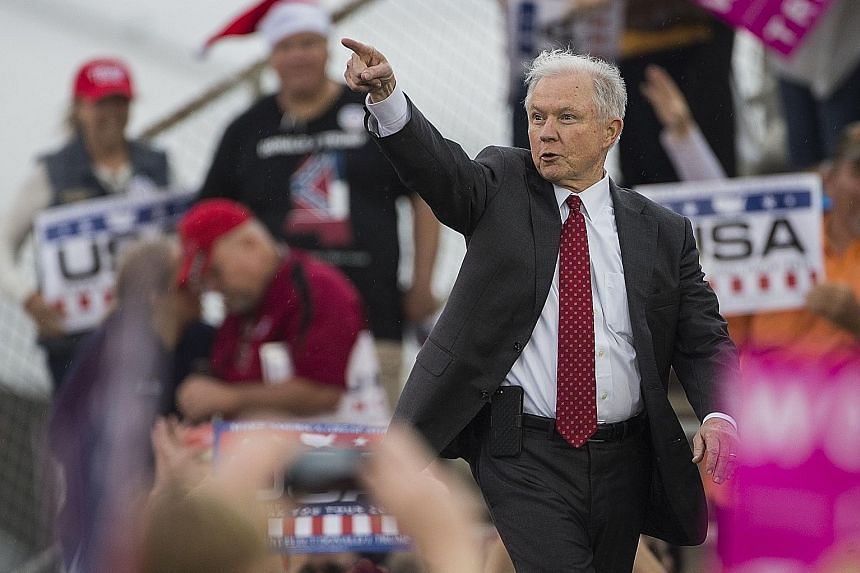 Senator Sessions, 70, Mr Trump's pick for Attorney-General in his administration, may be the most vulnerable nominee because he had failed a confirmation hearing in the past over allegations of racism.