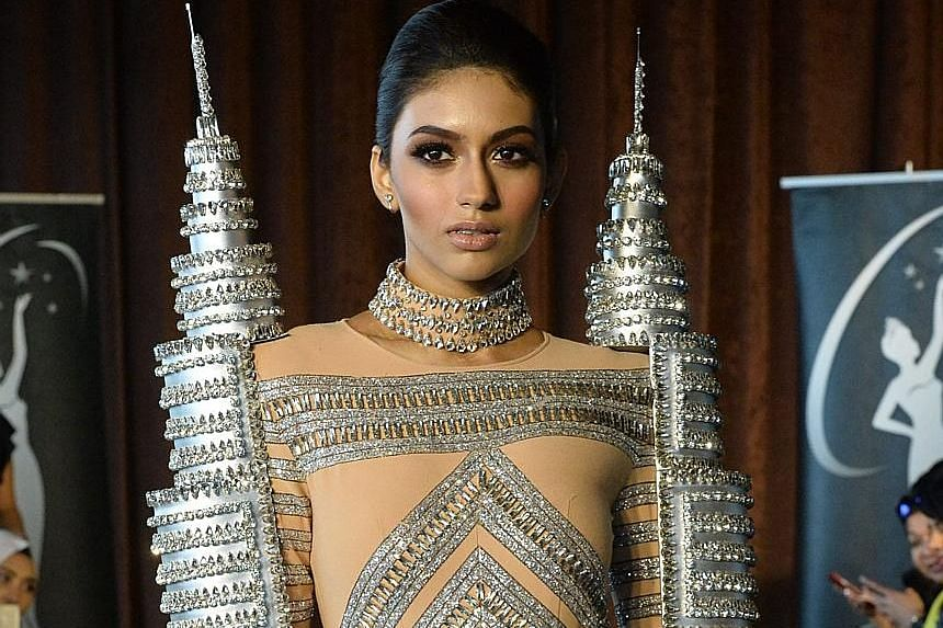Miss Universe Malaysia 2016 Kiran Jassal will wear this costume, inspired by the iconic Petronas Twin Towers, at the pageant later this month.