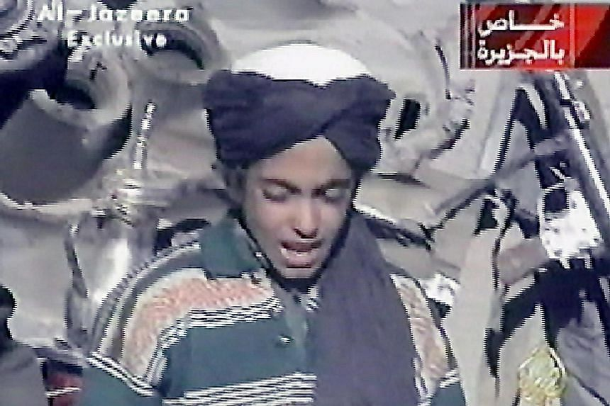 Hamza in a 2001 photo. The US this week added Hamza, one of Osama's 23 children, to the country's terrorist blacklist.