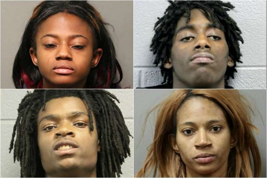 (Clockwise from top left) Brittany Covington, Jordan Hill, Tanishia Covington and Tesfaye Cooper.