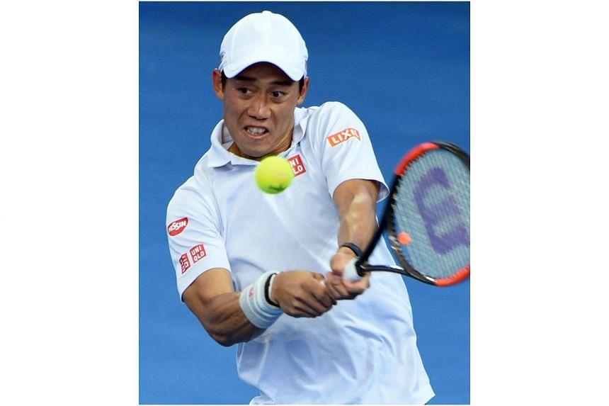 Japan's Kei Nishikori reached the final of the Brisbane International after beating world No. 4 Stan Wawrinka 7-6, 6-3 on Jan 7, 2016.