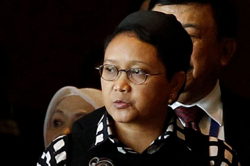 """Indonesian Foreign Minister Retno Marsudi urged Australia on Jan 7, 2017, to """"immediately investigate and legally process"""" the perpetrators behind the flying of the outlawed Papuan Morning Star flag at the Indonesian embassy in Melbourne."""