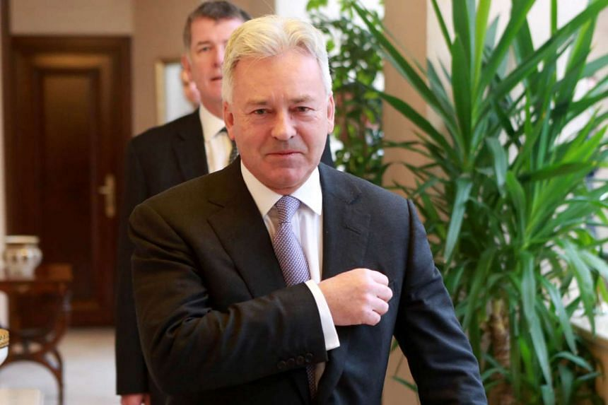 British Minister of State for Europe and the Americas Alan Duncan arrives for a meeting with Turkish Foreign Minister at the Foreign Ministry in Ankara, on Jan 4, 2016.