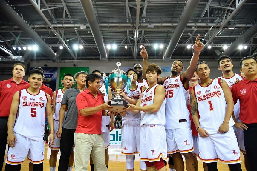 The Singapore Slingers celebrating after being named the Straits Cup champion on Jan 8, 2017.