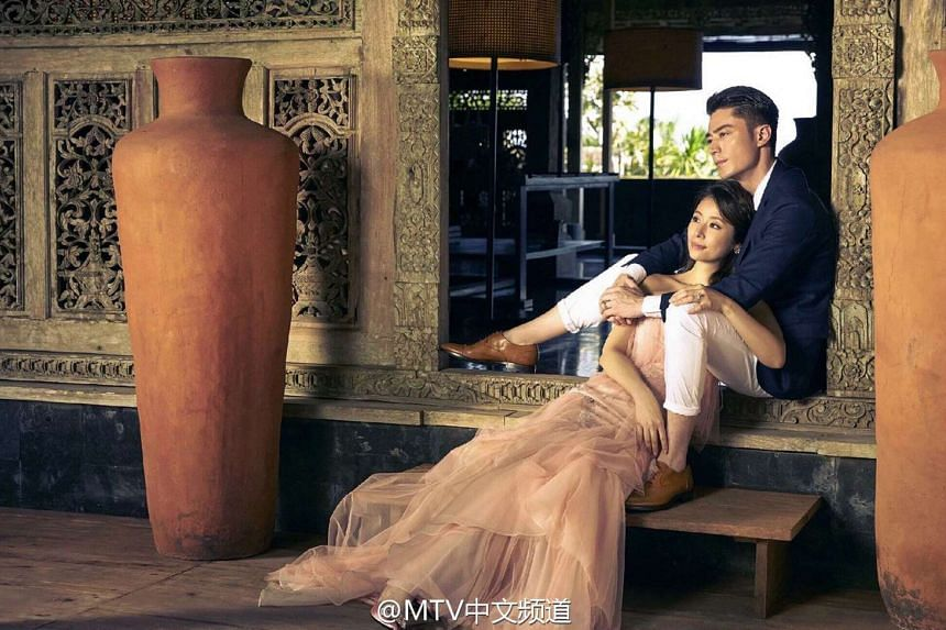 Taiwanese actress Ruby Lin and Wallace Huo.