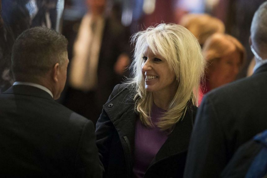Monica Crowley, recently chosen as a deputy national security advisor in President-elect Donald Trump's administration, departs Trump Tower, on Dec 15, 2016 in New York City.