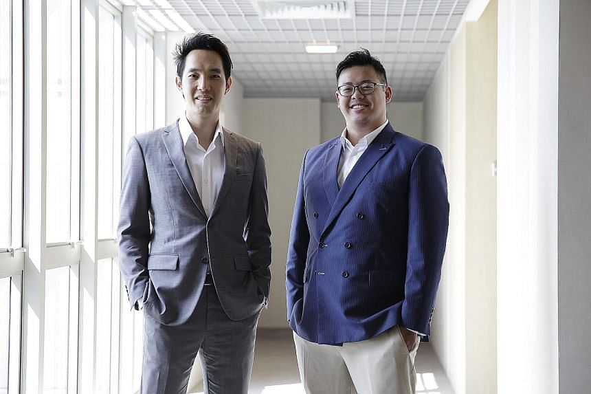 Mr Leong (left) and Mr Wong saw their company Rainmaker Labs make more than $2.5 million in revenue last year.