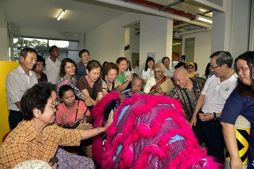 Former Dakota Crescent residents were thrown a house-warming party yesterday by Mountbatten grassroots organisations and the Marine Parade Town Council, as they settled into their new flats in nearby Cassia Crescent. But some are still adjusting to s