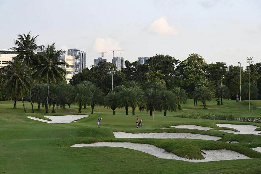 Members playing golf at Jurong Country Club on Dec 19, 2016.