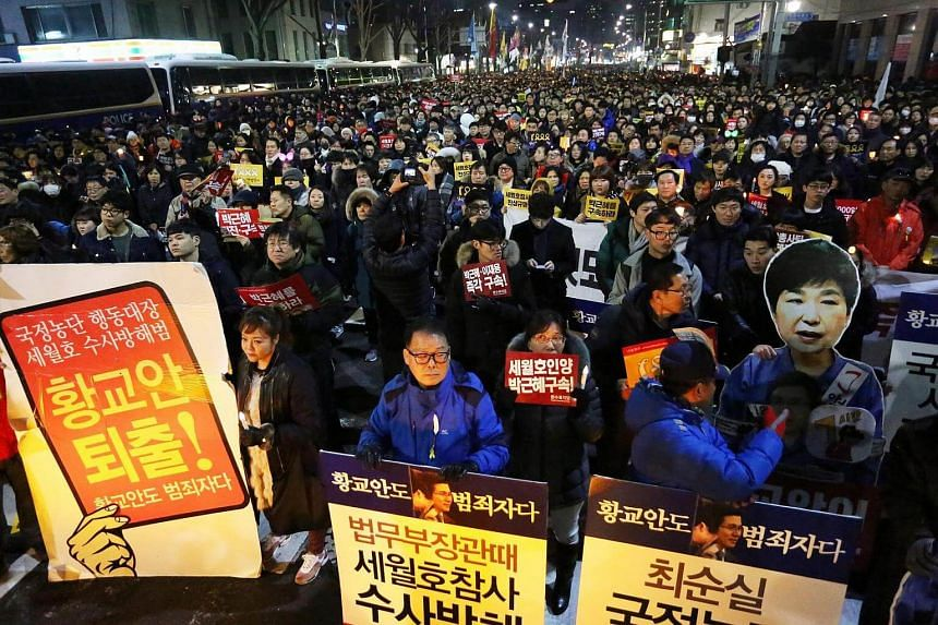 The monk, who is in his 60s, had set himself on fire during a mass protest against the impeached President Park Geun Hye.