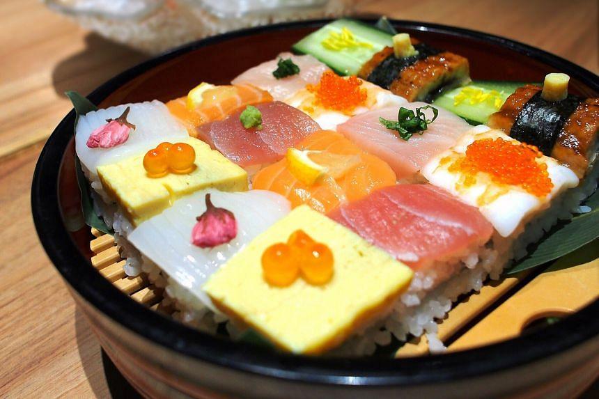 Mosaic Art Sushi
