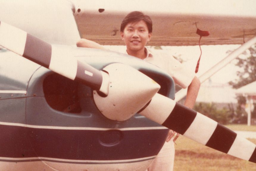 Mr Ng took to the skies early - he received his private pilot licence through the Junior Flying Club when he was in junior college. He later become a fighter pilot.