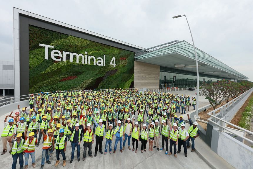 Transport infrastructure projects to be completed by the end of the year include Downtown Line 3, from River Valley to the Singapore Expo, and Changi Airport Terminal 4.
