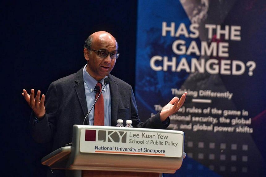 Deputy Prime Minister Tharman Shanmugaratnam delivers his keynote address at the Annual Meeting of the Association of Professional Schools of International Affairs (APSIA) held on Jan 7, 2017.