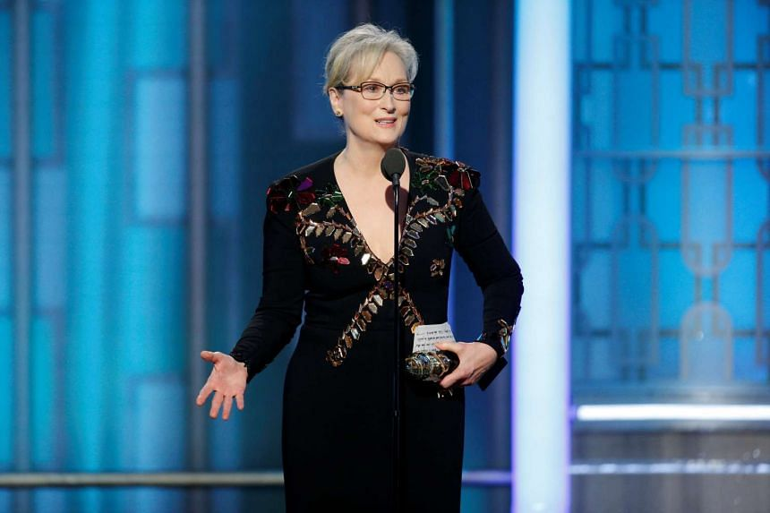 Actress Meryl Streep accepts the Cecil B. DeMille Award during the 74th Annual Golden Globe Awards show in Beverly Hills, California on Jan 8, 2017.
