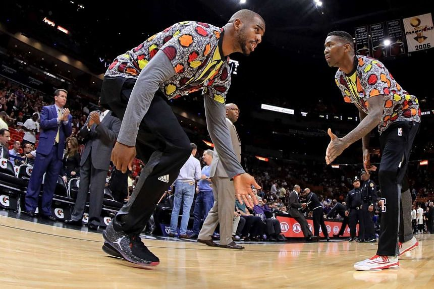 Chris Paul of the Los Angeles Clippers takes the floor during a game against the Miami Heat at American Airlines Arena on Dec 16, 2016 in Miami, Florida.