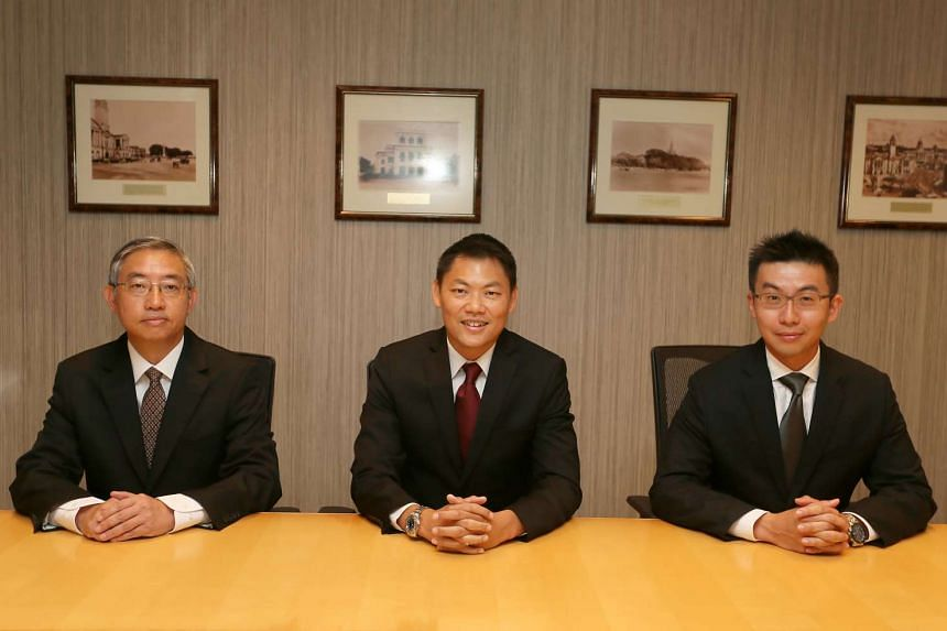 (From left) Mr Edmund Leow Hock Meng, Second Solicitor - General Mr Kwek Mean Luck and Mr Francis Ng Yong Kiat.