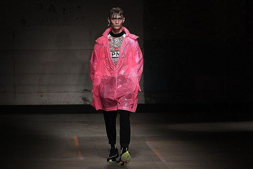 A design at Topman Design's London Fashion Week show last Friday.