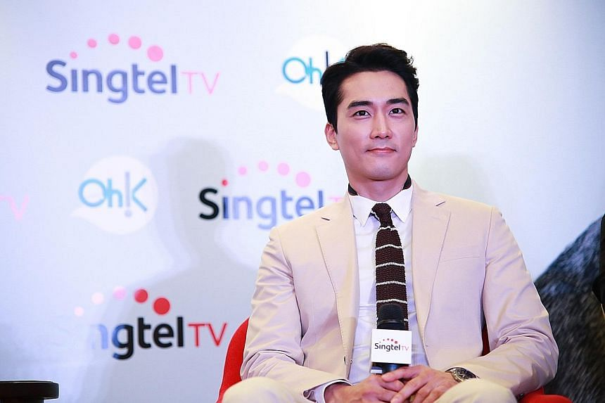 South Korean actor Song Seung Heon (above) was in town to promote the new K-drama, Saimdang.