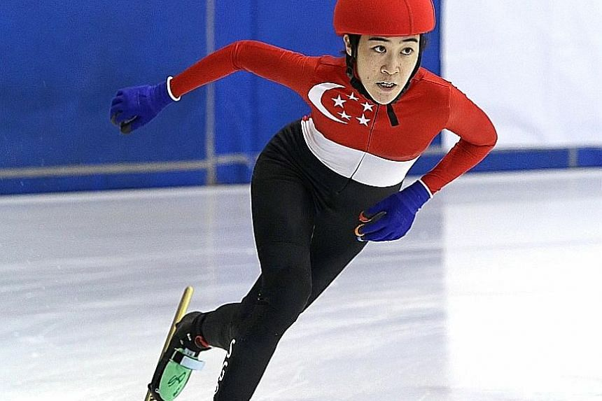 Danielle Han returns from injury to compete at the MapleZ South-east Asian Short Track Trophy.