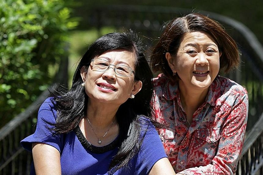 Madam Tang Chow Kheng (left) and Madam Joan Swee started a grief recovery workshop to equip people with skills to overcome various kinds of pain - from the death of a loved one to the loss of a job and financial difficulties.