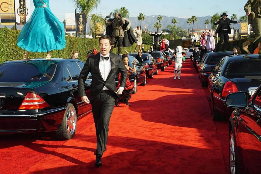 Host Jimmy Fallon arrives to present the 74th Annual Golden Globe Awards show in Beverly Hills, California on Jan 8, 2017.