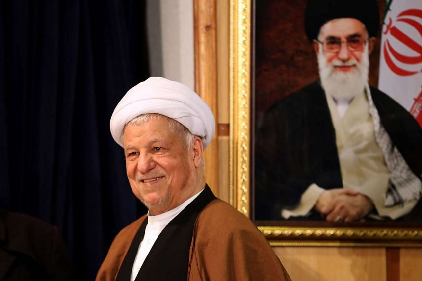 Iran's former president  Akbar Hashemi Rafsanjani arrives for a press conference in Teheran in 2015.