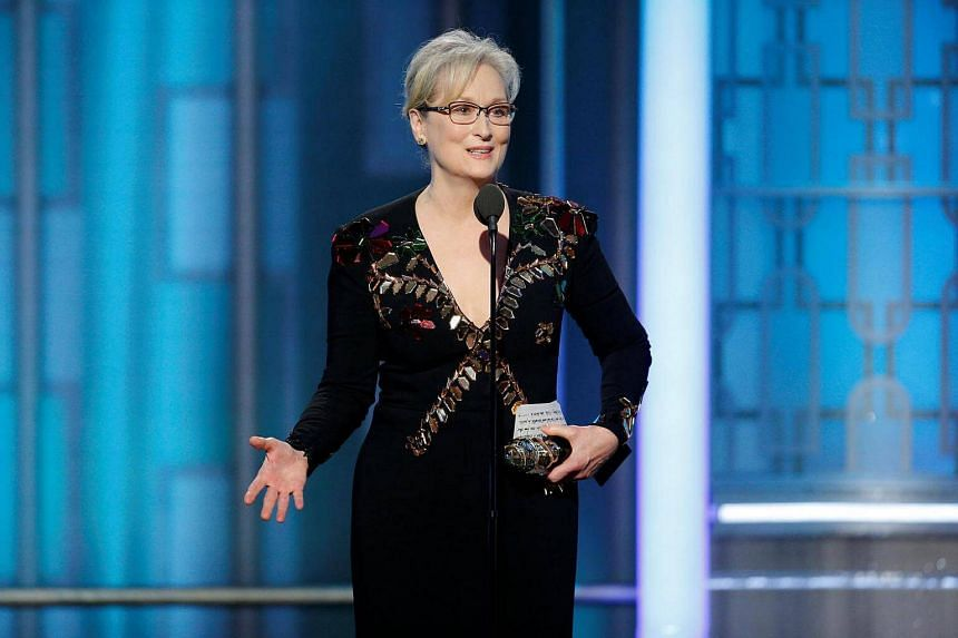 Actress Meryl Streep accepting the Cecil B. DeMille Award during the 74th Annual Golden Globe Awards show in Beverly Hills, California, US, on Jan 8, 2017.