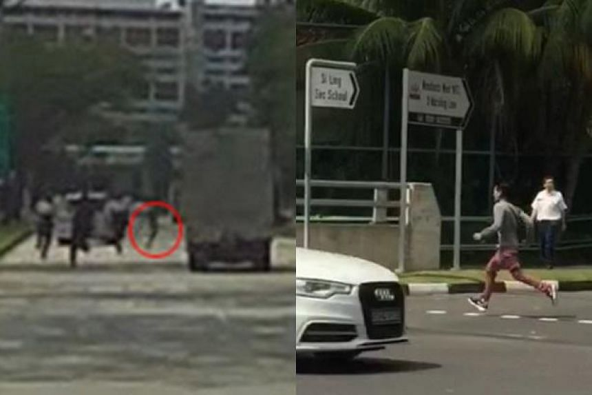 A man involved in an accident in Woodlands on Monday (Jan 9) morning allegedly punched a policeman, flashed his middle fingers at officers, and ran from them before being caught.