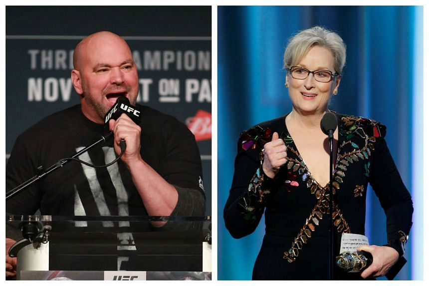 Dana White, the UFC president, hit back at Meryl Streep for her comments on Donald Trump.